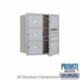 Salsbury 3709D-06AFP 4C Mailboxes 6 Tenant Doors Front Loading