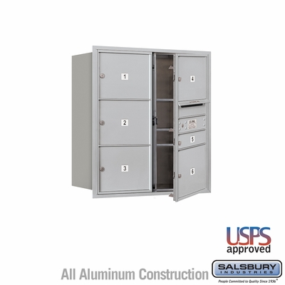 Salsbury 3709D-06AFU 4C Mailboxes 6 Tenant Doors Front Loading