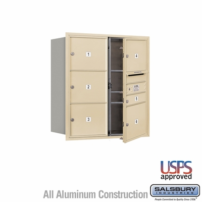 Salsbury 3709D-06SFU 4C Mailboxes 6 Tenant Doors Front Loading