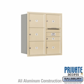 Salsbury 3709D-06SRP 4C Mailboxes 6 Tenant Doors Rear Loading