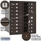 Salsbury 3709D-16ZFP 4C Mailboxes 16 Tenant Doors Front Loading