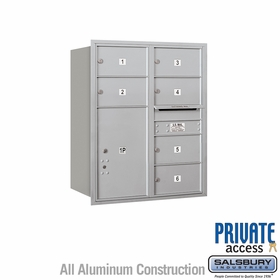 Salsbury 3710D-06ARP 4C Mailboxes 6 Tenant Doors Rear Loading