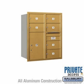 Salsbury 3710D-06GRP 4C Mailboxes 6 Tenant Doors Rear Loading