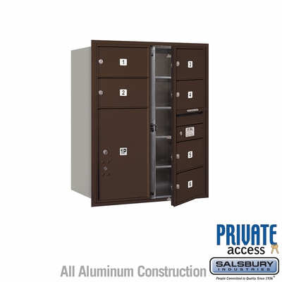 Salsbury 3710D-06ZFP 4C Mailboxes 6 Tenant Doors Front Loading