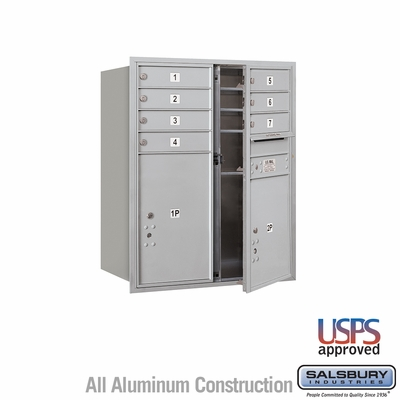 Salsbury 3710D-07AFU 4C Mailboxes 7 Tenant Doors Front Loading