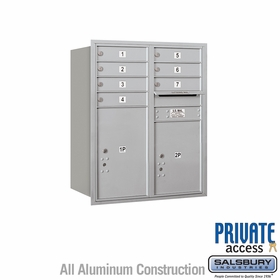 Salsbury 3710D-07ARP 4C Mailboxes 7 Tenant Doors Rear Loading