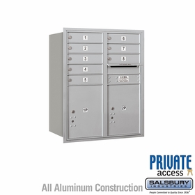 Salsbury 3710D-08ARP 4C Mailboxes 8 Tenant Doors Rear Loading