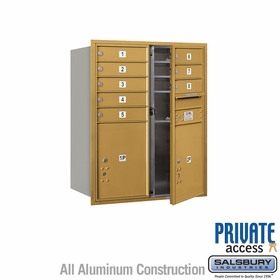 Salsbury 3710D-08GFP 4C Mailboxes 8 Tenant Doors Front Loading