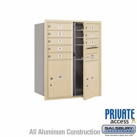 Salsbury 3710D-08SFP 4C Mailboxes 8 Tenant Doors Front Loading