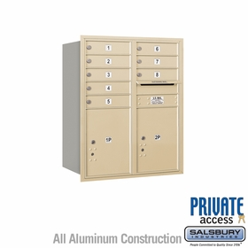 Salsbury 3710D-08SRP 4C Mailboxes 8 Tenant Doors Rear Loading