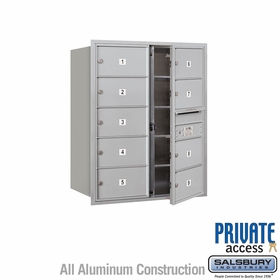 Salsbury 3710D-09AFP 4C Mailboxes 9 Tenant Doors Front Loading