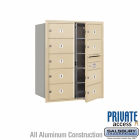 Salsbury 3710D-09SFP 4C Mailboxes 9 Tenant Doors Front Loading