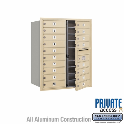 Salsbury 3710D-18SFP 4C Mailboxes 18 Tenant Doors Front Loading