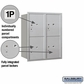 Salsbury 3710D-4PARU 4C Mailboxes 4 Parcel Lockers Rear Loading