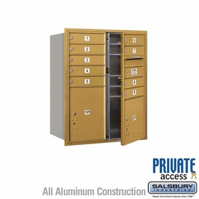 Salsbury 3710DA-09GFP 4C Mailboxes 9 Tenant Doors Front Loading
