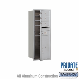 Salsbury 3710S-03AFP 4C Mailboxes 3 Tenant Doors Front Loading