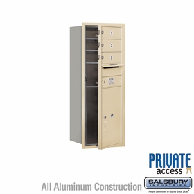 Salsbury 3710S-03SFP 4C Mailboxes 3 Tenant Doors Front Loading