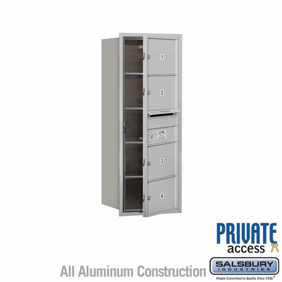 Salsbury 3710S-04AFP 4C Mailboxes 4 Tenant Doors Front Loading
