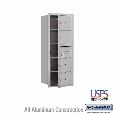 Salsbury 3710S-04AFU 4C Mailboxes 4 Tenant Doors Front Loading