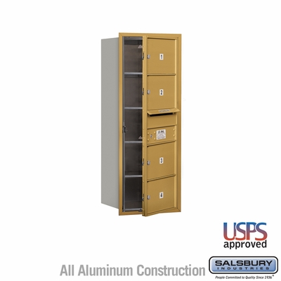 Salsbury 3710S-04GFU 4C Mailboxes 4 Tenant Doors Front Loading
