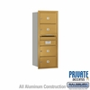 Salsbury 3710S-04GRP 4C Mailboxes 4 Tenant Doors Rear Loading
