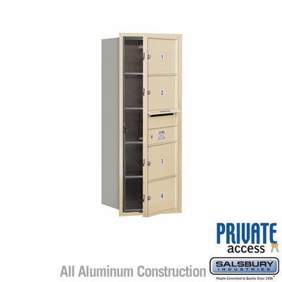 Salsbury 3710S-04SFP 4C Mailboxes 4 Tenant Doors Front Loading