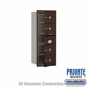 Salsbury 3710S-04ZFP 4C Mailboxes 4 Tenant Doors Front Loading