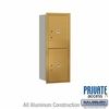 Salsbury 3710S-2PGRP 4C Mailboxes 2 Parcel Lockers Rear Loading