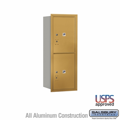 Salsbury 3710S-2PGRU 4C Mailboxes 2 Parcel Lockers Rear Loading