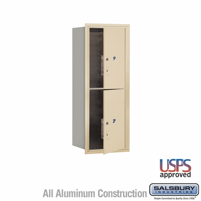 Salsbury 3710S-2PSFU 4C Mailboxes 2 Parcel Lockers Front Loading