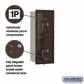 Salsbury 3710S-2PZFP 4C Mailboxes 2 Parcel Lockers Front Loading