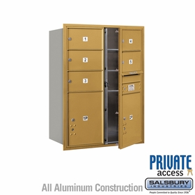 Salsbury 3711D-05GFP 4C Mailboxes 5 Tenant Doors Front Loading