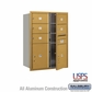 Salsbury 3711D-05GFU 4C Mailboxes 5 Tenant Doors Front Loading
