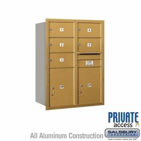 Salsbury 3711D-05GRP 4C Mailboxes 5 Tenant Doors Rear Loading