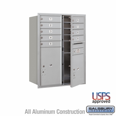 Salsbury 3711D-09AFU 4C Mailboxes 9 Tenant Doors Front Loading