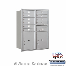 Rear Loading Horizontal Mailboxes 9 to 10 Doors
