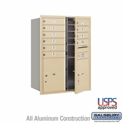 Salsbury 3711D-10SFU 4C Mailboxes 10 Tenant Doors Front Loading