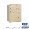 Salsbury 3711D-10SRP 4C Mailboxes 10 Tenant Doors Rear Loading