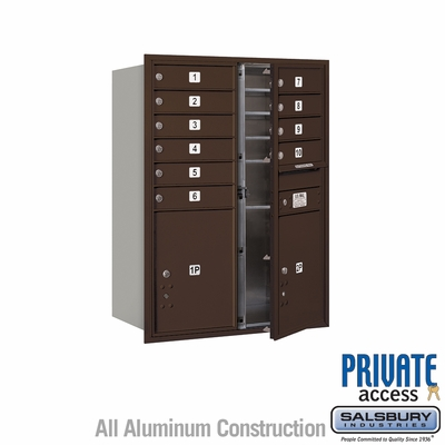 Salsbury 3711D-10ZFP 4C Mailboxes 10 Tenant Doors Front Loading