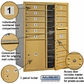 Salsbury 3711D-15GFP 4C Mailboxes 15 Tenant Doors Front Loading