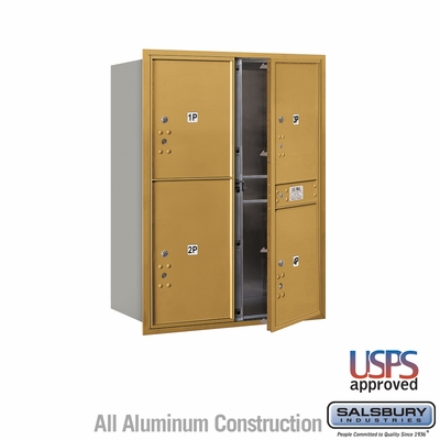 Salsbury 3711D-4PGFU 4C Mailboxes 4 Parcel Lockers Front Loading