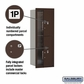 Salsbury 3711S-2PZFP 4C Mailboxes 2 Parcel Lockers Front Loading