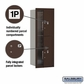 Salsbury 3711S-2PZFU 4C Mailboxes 2 Parcel Lockers Front Loading