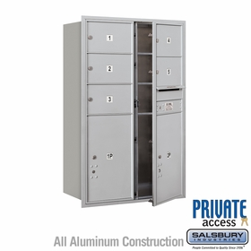 Salsbury 3712D-05AFP 4C Mailboxes 5 Tenant Doors Front Loading