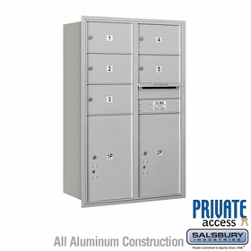 Salsbury 3712D-05ARP 4C Mailboxes 5 Tenant Doors Rear Loading