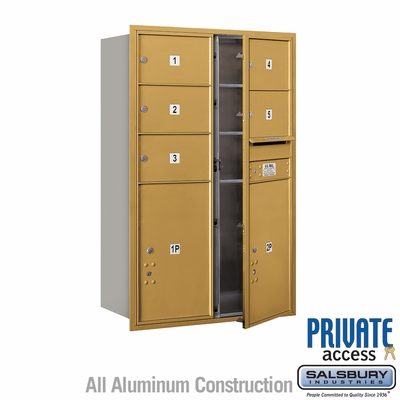 Salsbury 3712D-05GFP 4C Mailboxes 5 Tenant Doors Front Loading