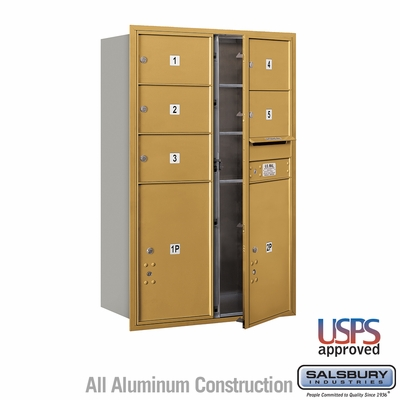 Salsbury 3712D-05GFU 4C Mailboxes 5 Tenant Doors Front Loading