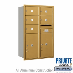 Salsbury 3712D-05GRP 4C Mailboxes 5 Tenant Doors Rear Loading