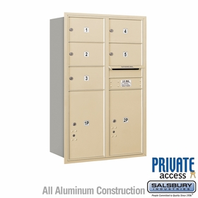 Salsbury 3712D-05SRP 4C Mailboxes 5 Tenant Doors Rear Loading