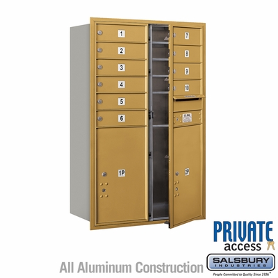 Salsbury 3712D-10GFP 4C Mailboxes 10 Tenant Doors Front Loading
